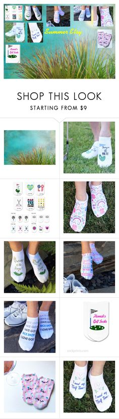 Ladies Summer Golfing Socks on Etsy by brianna-anzalone on Polyvore