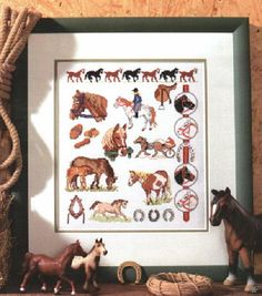 Horses - charts for counted cross stitch on Suzi What I Like at http://suzi2.blogspot.nl/