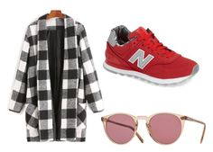 """""""🎩"""" by sarhah on Polyvore featuring New Balance and Oliver Peoples"""
