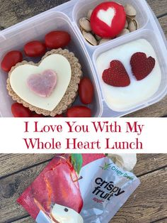 I love filled lunchbox for Valentine's Day!