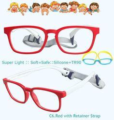 5d9e913fe0 IVSTA with Strap 46-16 Kids Glasses for Children Eyeglasses Flexible TR90  Silicone Girls Optical