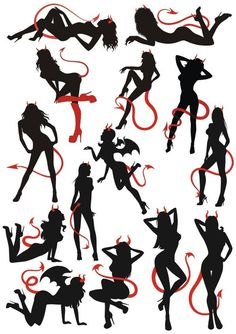 Angel Devil Tattoo, Angel And Devil, Ange Demon, Demon Art, Angel Wings Drawing, Card Tattoo Designs, Realistic Tattoo Sleeve, Retro Graphic Design, Silhouette Art