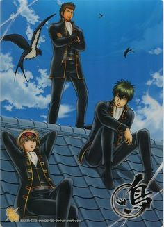 Gintama pencil board / Shitajiki official Japan Okita Sougo ,Hijikata Toushirou , Kondou Isao