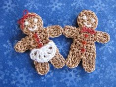 Little Gingerbread Boy and Girl  http://bellacrochet.blogspot.com/2009/12/little-gingerbread-boy-and-girl-free.html