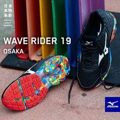 huge discount 016c9 bdf5b Edition limitée running - chaussures Mizuno Wave Rider 19 Osaka. Courez sur  un arc-