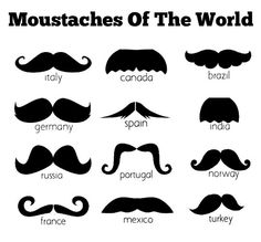 Moustache World. I knew it! My dad is Italian. Not Mexican lol Brazil Germany, Moustache Party, Mustache Cake, Mustache Men, Movember, Akita, The Funny, Make Me Smile, We Heart It
