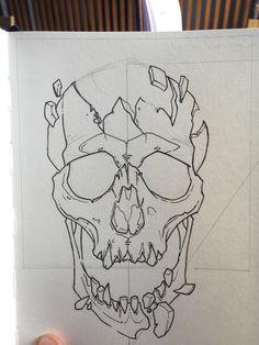Skull Tattoo Design, Tattoo Design Drawings, Art Drawings Sketches, Tattoo Sketches, Totenkopf Tattoos, Flash Art, Skull Art, Art Sketchbook, Graffiti Art