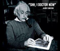 Here's a classic photo of Albert #Einstein playing Surgeon Simulator on the #iPad :)