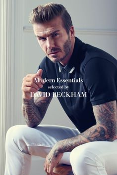"""For me, menswear is all about the details. The white notches on this polo shirt are so simple, and make it extra special."" -David Beckham. See his other picks for the H&M Modern Essentials collection in stores & online."
