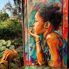 Esempi di arte contemporanea di strada e arte Grafica Sui muri Street Art - Murales - Graffiti.