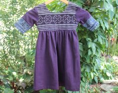 Little Girls Dress In Hmong Embroidery Bohemian Style by DekDoi