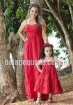 Vestidos tal mãe tal filha vermelho longo
