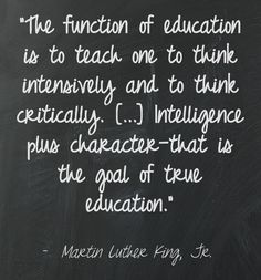 Great words re: education by Dr. King.    Quote background via @Pinstamatic (http://pinstamatic.com)