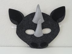 Rhino Felt Mask by JulieMarieKids on Etsy