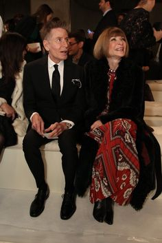 with Calvin Klein at Valentino Haute Couture New York Collection show