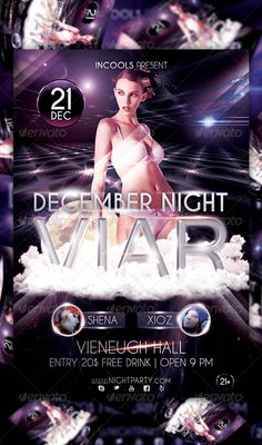 December Night Viar Flyer Template