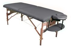 "Ironman Fairfield Massage Table by IronMan. $138.99. Amazon.com      Perfectly portable for massage practitioners on the go, the Ironman Fairfield massage table in gray folds and locks for transport and includes a carry handle. It features durable PVC leather, dense European beechwood construction, and Ironman's patented ""cradle lock system"" to prevent side wobble and rocking. The bed is constructed of 2-inch multi layer foam padding, and the table has an 11-point height a..."