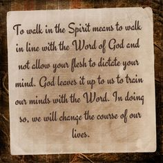 Learning to Operate by the Spirit! Galatians 5:16 (NKJV) I say then: Walk in the Spirit, and you shall not fulfill the lust of the flesh.#cccdevotions
