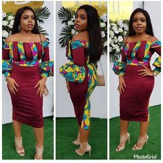 Looking for the latest aso ebi Ankara styles to rock this year . we get some lovely collection of Ankara styles that will make all the guest in the occasion to African Print Dresses, African Fashion Dresses, African Dress, Ankara Fashion, African Prints, African Clothes, Ankara Long Gown Styles, Trendy Ankara Styles, African Attire