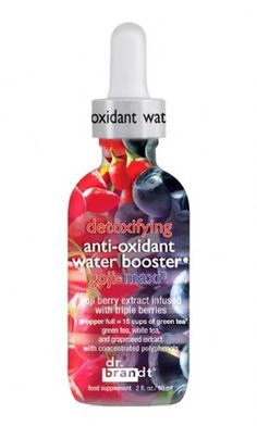 Dr Brandt Detoxifying Anti-Oxidant Water Booster Goji-Maxi3-Full of anti-oxidants including Goji berry and Maqi Berry, just two drops a day is equal to 15 cups of green tea that help to fight free radicals, prevent aging, eliminate toxins and maintain a youthful complexion- Charlotte Tilbury