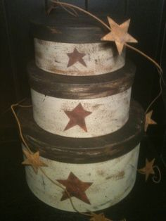 Primitive Star Stacked Boxes