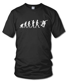 shirtloge - EVOLUTION SKATER - KULT - Fun T-Shirt - in verschiedenen Farben  -
