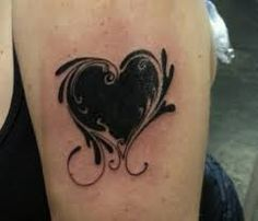 Image result for black heart tattoo