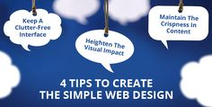 4 Tips To Create The Simple #WebDesign - #WeblinkIndia