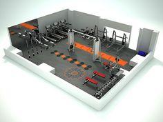 home gym design Dream Home Gym, At Home Gym, Sala Fitness, Fitness Studio, Crossfit Garage Gym, Gym Plans, Gym Facilities, Home Gym Decor, Plans Architecture