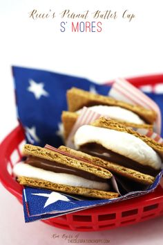 Reece's Peanut Butter Cup S' Mores for the 4th | Kim Byers, TheCelebrationShoppe.com