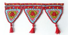 Looking for your next project? You're going to love Crochet triangles wall hanging by designer Pradeepa.