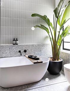 Bathroom Renos, Laundry In Bathroom, Bathroom Layout, Bathroom Renovations, Small Bathroom, Bathrooms, Modern Bathroom Tile, Estilo Tropical, Bathroom Design Inspiration