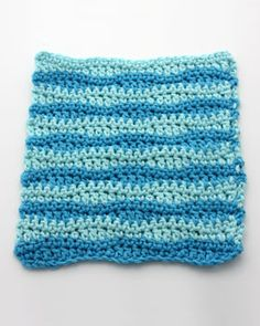 wavy dishcloth