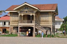 Be transported to Old Manila's glory days the moment you set foot at Las Casas Filipinas de Acuzar: an unparalleled resort in Bagac, Bataan. Filipino Architecture, Philippine Architecture, Tropical Architecture, Filipino House, Filipino Art, Bistro Interior, Philippine Houses, Bahay Kubo, Thai House