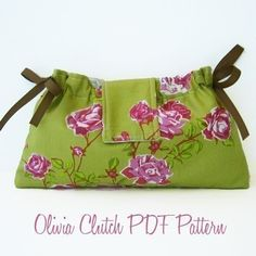 Olivia Clutch PDF Sewing Pattern and Tutorial by alifoster on Etsy, $5.00