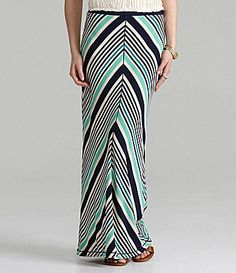 MSSP Stripe Maxi Skirt #Dillards- possible option for family pictures