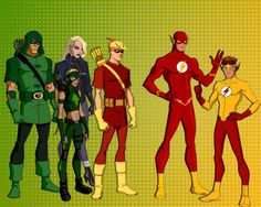 Young Justice From Green to Yellow