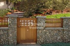 Wood and Stone gate by Charles Prowell