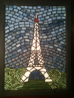 Eiffel Tower - stained glass mosaic
