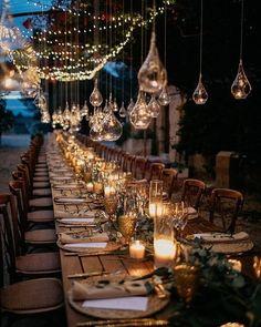 Wedding Lighting Ideas for Rustic Country Wedding Reception Magical Wedding, Perfect Wedding, Dream Wedding, Light Wedding, Spring Wedding, Luxury Wedding, Garden Wedding, Wedding Themes, Wedding Designs