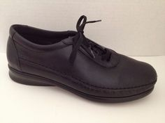 SAS Shoes Womens Size 7 Wide Black Lace Up Traveler 7W Made in USA #SAS #Oxfords #WeartoWork