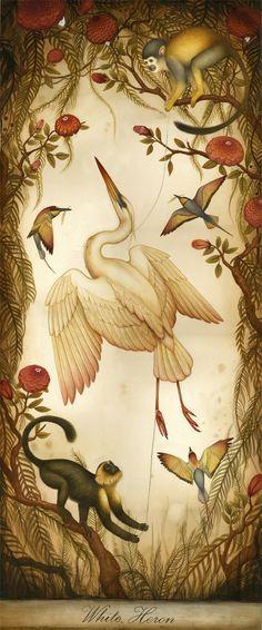 """White Heron"" Lindsey Carr"