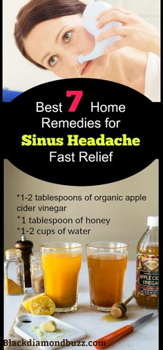 Remedies For Sinus Infection How to get Rid of Sinus Headache and Nasal Congestion Fast with this best home remedies and acupressure points. Ingredients tablespoons of organic apple cider vinegar tablespoon of honey cups of water Sinus Headache Remedies, Sinus Headache Relief, Home Remedies For Sinus, Congestion Relief, Allergy Remedies, Natural Home Remedies, Health Remedies, Nasal Congestion Remedies, Flu Remedies