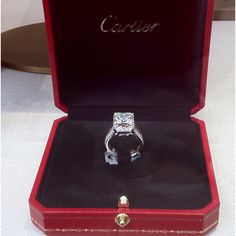 Cartier Engagement! A little red box trumps a little blue box any day