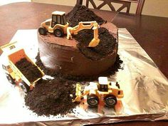 Would've made a great retirement cake for Daddy minus the CAT emblem!