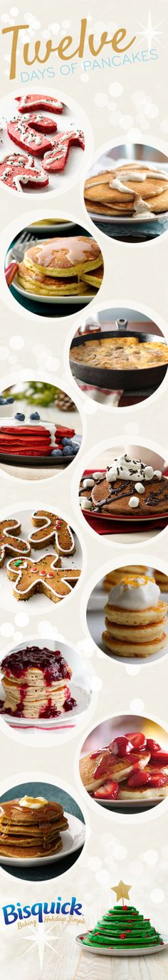 Bisquick's 12 delicious pancake recipes to make mornings a little merrier this holiday season!