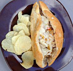 Crock Pot Philly Chicken Sandwiches