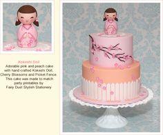 Kokeshi Doll fondant cake