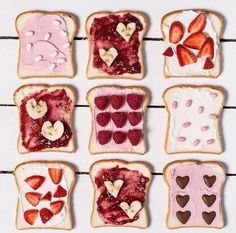 love toast valentine's breakfast inspiration or cute photo art for contemporary unisex cards Cute Food, Good Food, Yummy Food, Cupcake Photography, Valentines Day Treats, Valentines Breakfast, Cupcakes, Macaron, Sweet Tooth