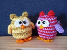 Tutorial Gufetto Uncinetto - Amigurumi- Buho Crochet - Owl - Coruja Croche